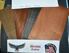 4pc Bulk Med - Dark Guitar, Bass Headstock Veneer 5 x 8 x .044 Free Ship #0202
