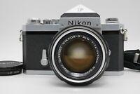 [Near MINT] Nikon F Eye Level 35mm SLR Body Nikkor S Auto 50mm f/1.4 Lens Japan