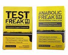 TEST FREAK 120 + ANABOLIC FREAK 96 - PHARMA Muskelaufbau Testosteron Booster USA