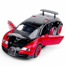 1/32 Scale Alloy Plastic Diecast Car Model Bugatti Veyron w/light&sound Gift