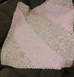 hand crocheted baby blanket new