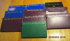 10 U.S. Mint Proof Set 1971 1972 1982 1983 1985 1987 1989 91 92 94 Proof set