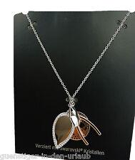 TCM Tchibo Damen Halskette Kette mit Swarovski Kristallen Messing ca. 80 cm
