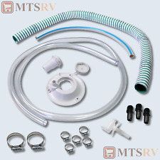 """Fresh Water Holding Tank Accessory Hose Kit - RV Concession Trailer 1/2"""" (i.d.)"""