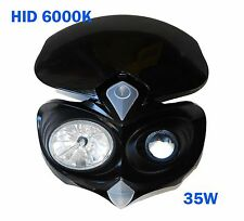 HID Head light F black dual sport custom motorcycle xenon street fighter naked