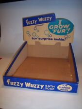 "VERY RARE Vintage Antique 1960s ""Fuzzy Wuzzy Bear Bath Soap"" Store Display & Box"
