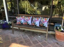 Set 4 Garden Strelitzia Flower Floral  Polyester Cushion Covers 45 cm FREEPOST