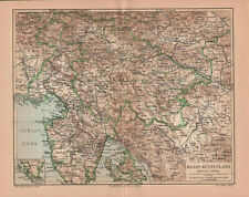 Antique map. AUSTRIAN LITTORAL. CARNIOLA. SLOVENIA. CROATIA. 1905