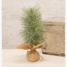 """Icy City Holiday Pine Faux 18"""" H Tree"""