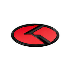 BLACK OVER RED KIA K SMALL EMBLEM BADGE FOR TRUNK OR HOOD