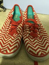 Womens Juniors KEDS Tennis Shoe Red And White Stripped By Taylor Swift Size 6
