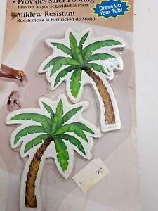 Magic Decorative Shower Bath Self Stick Safety Treads Anti Slip Palm Trees 8 Pk