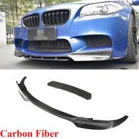 Carbon Fiber Front Bumper Lip Spoiler Splitters Fit For BMW F10 M5 Sedan 12-16