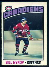 1976-77 OPC O PEE CHEE #188 BILL NYROP NM MONTREAL CANADIENS HOCKEY CARD