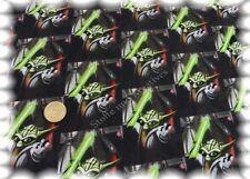 Ferne Galaxien Stretch-Jersey schwarz grün Baumwolle Shirtstoff 50 cm