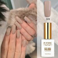 RS Nail Gel Nail Polish UV LED Varnish Soak Off Khaki Brown Colour 15ml 309