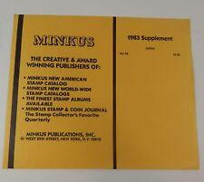 Minkus Japan No. 24 1983 Supplement Stamp Album Pages