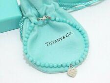 Tiffany & Co. Silver Amazonite Return to Tiffany Mini Ball Bead Bracelet
