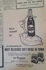 MAY 5, 1960 NEWSPAPER PAGE #J5853- DR PEPPER- DO-IT-YOURSELF KIT