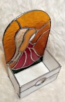 Angel Stained Glass Tabletop Decor Part for Nite Light Lamp or Votive Candle