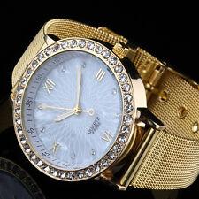 Fashion Elegante Brand LUXURY GOLD WATCH Classic da Donna da Polso al Quarzo