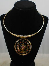 Kate Spade Gold Plated Out Of Her Shell Tortoise Pink Flower Collar Necklace