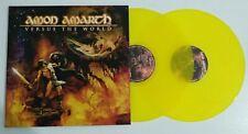 Amon Amarth Versus The World Lp Vinile Doppio 2 Dischi Giallo limited edition