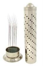 Metallic Tower Multiple Agarbatti Incense Stick Holder Case Stand For Puja NoAsh