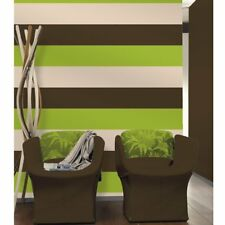 Brown Green Cream Stripe Wallpaper Pattern Textured Modern Lines Striped Feature