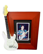 Miniature Guitar Picture Frame David Gilmour Pink Floyd Rock & Roll Collectible
