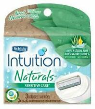 Schick Intuition Naturals Sensitive Care Razor Refill 3 ct (Pack of 3)