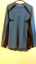 Nike Mens Size Large Blue & Navy Long Sleeve Pullover Jacket Long Sleeve Shirt
