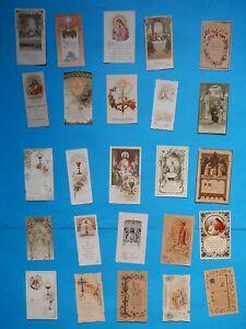 JOB  lot 25  HOLY CARD JESUS MARY OUR LADY Communion  1896 1949   VITAM