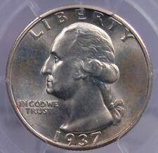 1937 S WASHINGTON QUARTER PCGS MS 65 SATINY GEM AND A PARTICULARLY TOUGH DATE