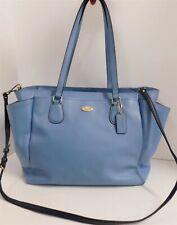 Coach Light Blue Crossgrain Leather Baby Diaper Multifunction Bag