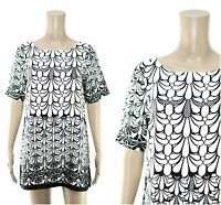 RIVER ISLAND Dress - River Island Monochrome Print Tunic Dress