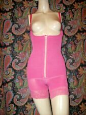 Ann Cherry Pink Cupless X-Firm All-In-One Long Leg Romper Girdle Panty M