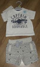 Ex store Newborn size 50cm boys cotton t-shirt and shorts set Brand New