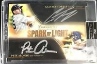 MLB 2020 Torres Alonso Topps Luminaries Baseball Spark of Light Dual Auto 12/15