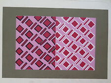 Josef Albers Original Silkscreen Folder XIII-3/Left Interaction of Color 1963