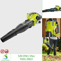 RYOBI 25cc Gas Leaf Blower Jet Fan 160 MPH 520 CFM Variable Speed Recoil Start