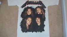 """Vtg 1991 METALLICA Snakepit """"Stage Set"""" Photo Concert T-Shirt Brockum Tour LARGE"""