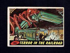 1962 Bubbles Inc. Mars Attack #34 Terror In The Railroad GD