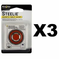 Nite Ize Steelie Magnetic Tablet Socket Replacement Kit For HobKnob (3-Pack)