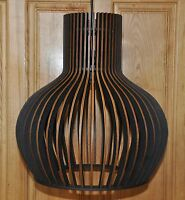 Hängelampe XL  Holzleuchte Pendelleuchte Deckenlampe Modern Holz Neu
