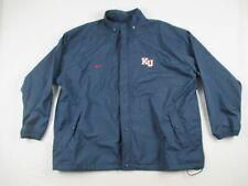Nike Kansas Jayhawks - Men's Navy Poly Rain Jacket (4XL) - Used