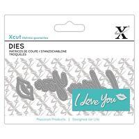 Docrafts X-Cut Mini Sentiment Die - I Love You Die Cutting Papercrafting