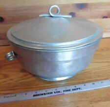 Nasco Italy hammered aluminum insulated shrimp appetizer server with lid vintage