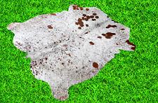 """New Brown Cowhide Rug Hair On COW HIDE Area Rug (52"""" x 50"""")Animal Carpet 18.1 SF"""
