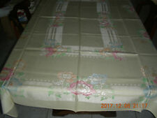"VINTAGE MID CENTURY TABLECLOTH WITH 4 NAPKINS 72"" x 52"" NEW"